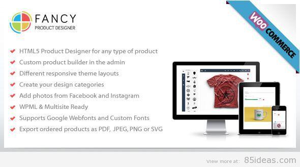 Fancy Product Designer WooCommerce plugin