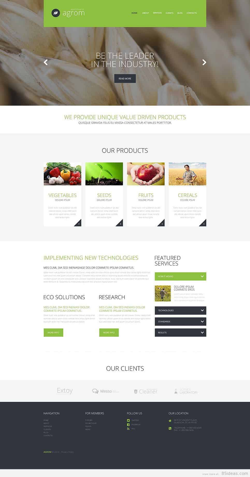 Farmer Dream Service WordPress Theme