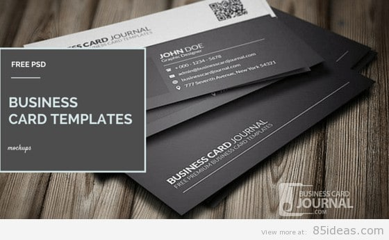 38 free psd business card templates