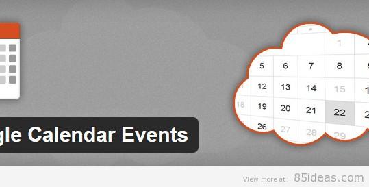 Free WordPress Google Calendar Plugins