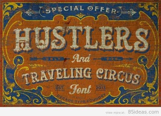 Hustlers tattoo font