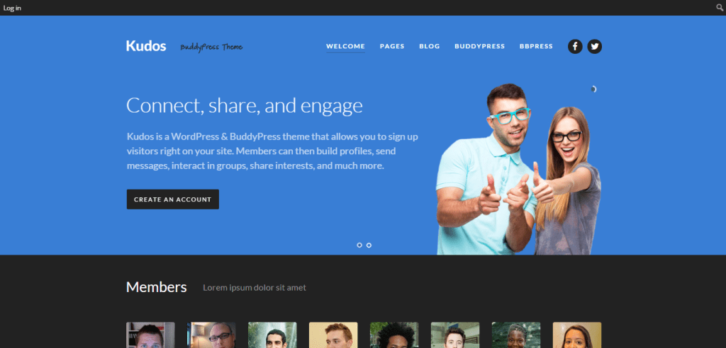 Kudos WordPress Theme