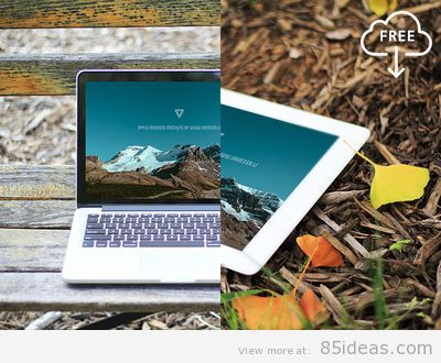 Mac Book Pro Outdoors Mockup