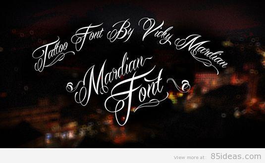 Mardian tattoo font