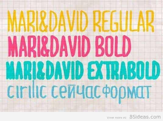 Mari and David font