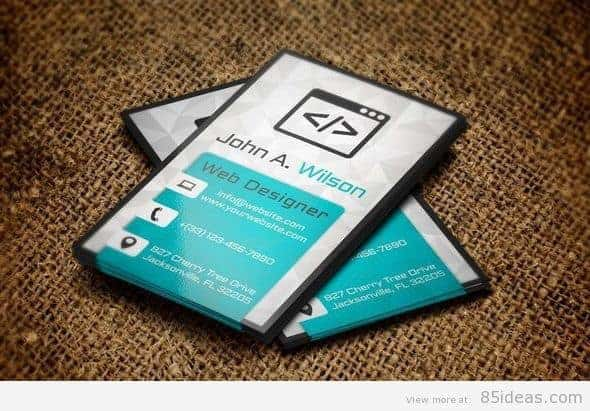 New Vertical Business Card