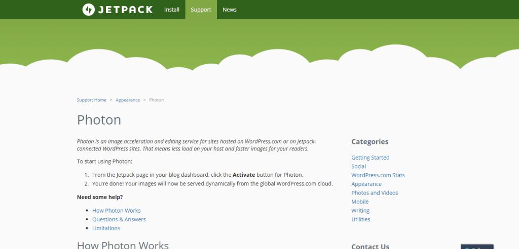 Photon Jetpack WordPress