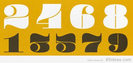 Pompadour Numerals font
