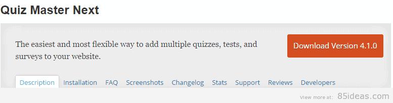 Quiz Master Next Plugin