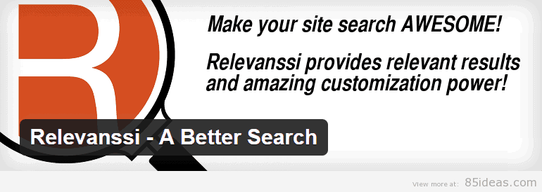 Relevanssi Better Search Plugin