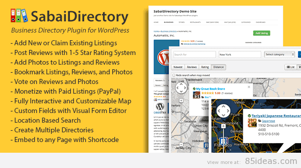 Sabai Directory for WordPress