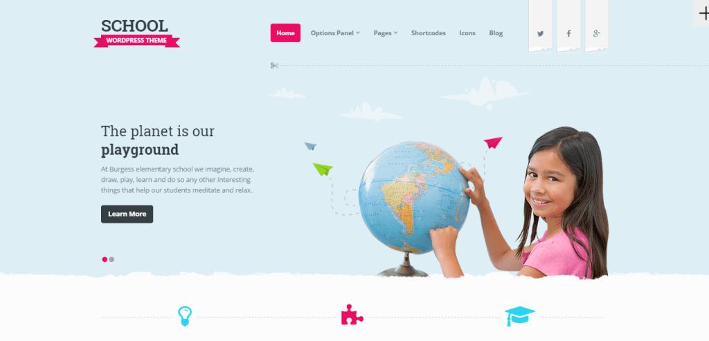 School Theme for WordPress