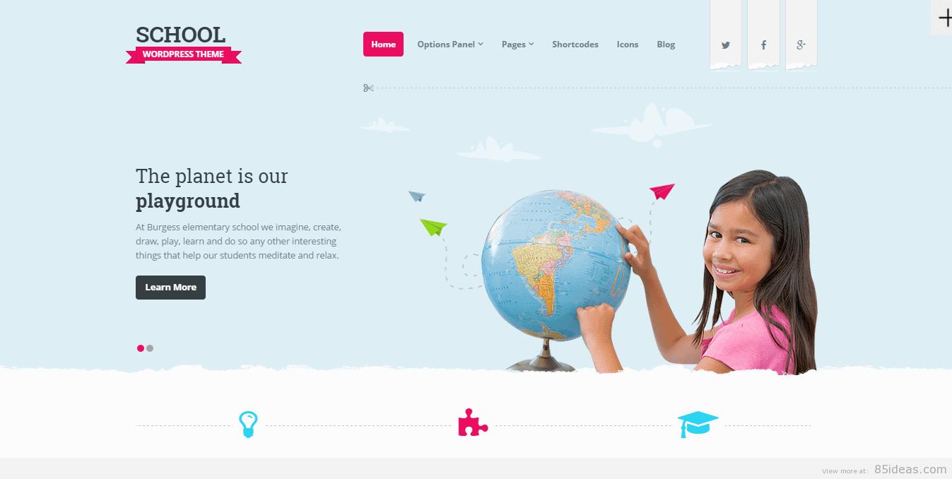 School WordPress Themes Best Children/Kids Wordpress Themes for School Activities ...