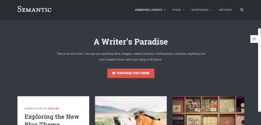 Semantic WordPress Theme