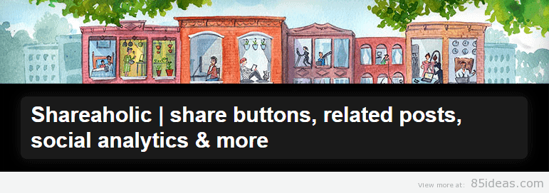 Shareaholic share buttons