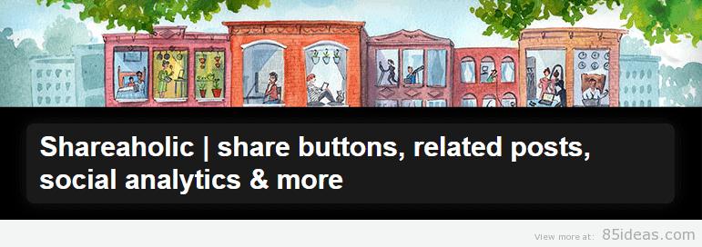 Shareaholic share buttons
