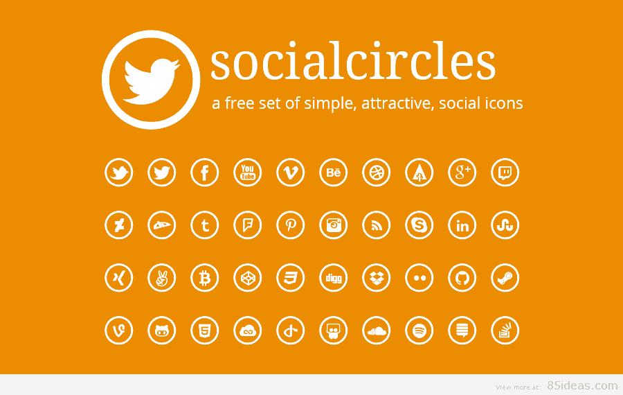 Socialcircles Free social icons
