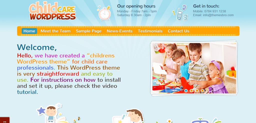 ThemesBro Childcare WordPress Theme