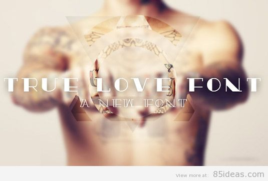 True Love tattoo font
