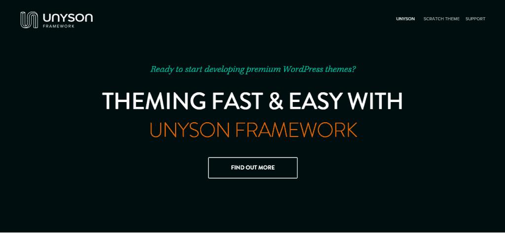 Unyson Framework by Theme Fuse