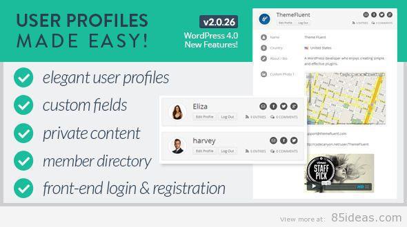 User Profiles Made Easy Plugin