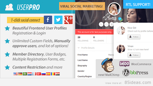 UserPro with Social Login