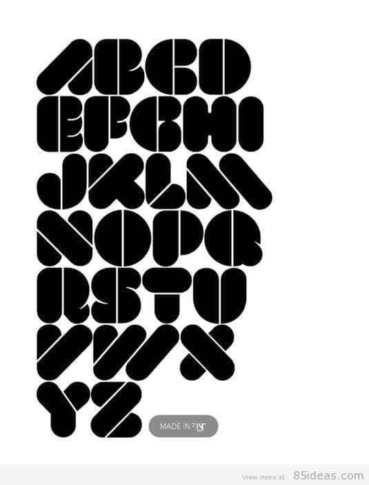 VAL Stencil font