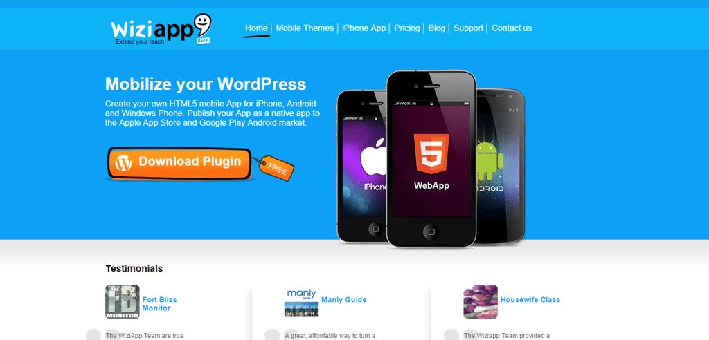 WiziApp WordPress iPhone App Plugin