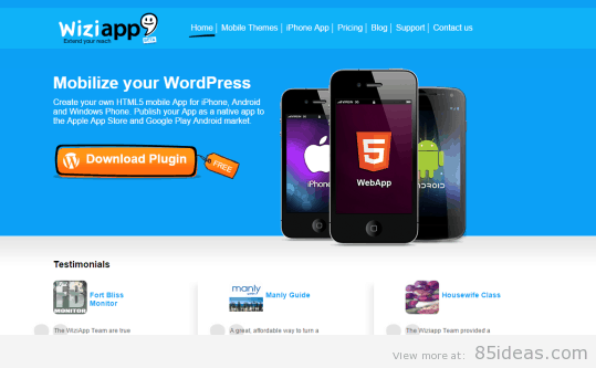 Turn WordPress Site into a Mobile App