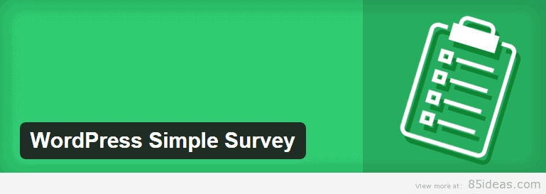 WordPress Simple Survey WordPress Plugins