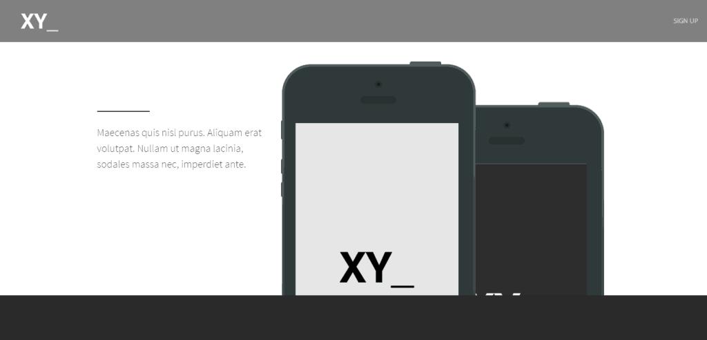 XY Landing Page theme