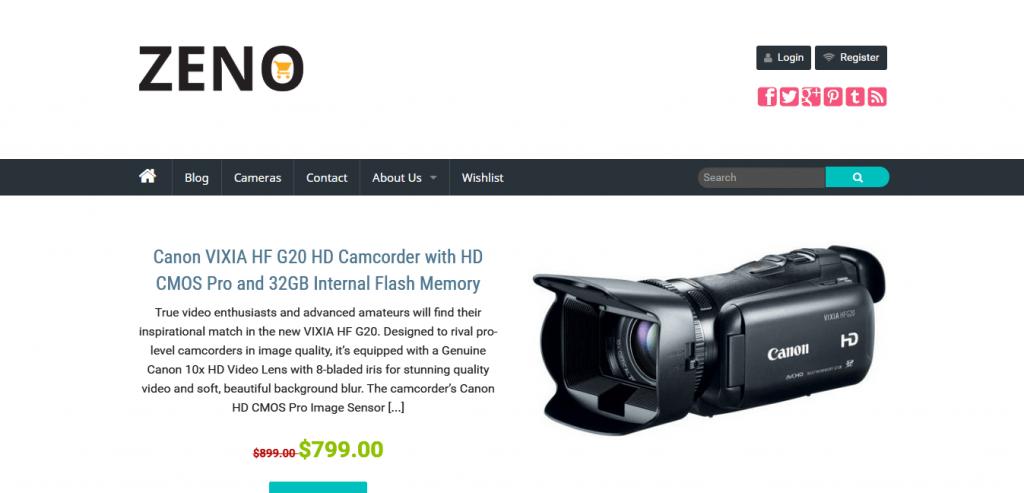 Zeno Amazon WordPress Theme