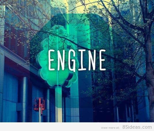 engine font