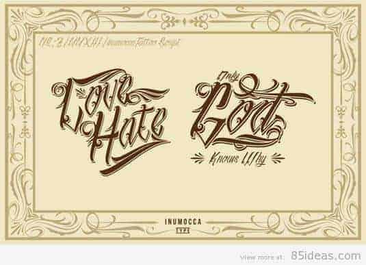 inuTattoo Script tattoo font