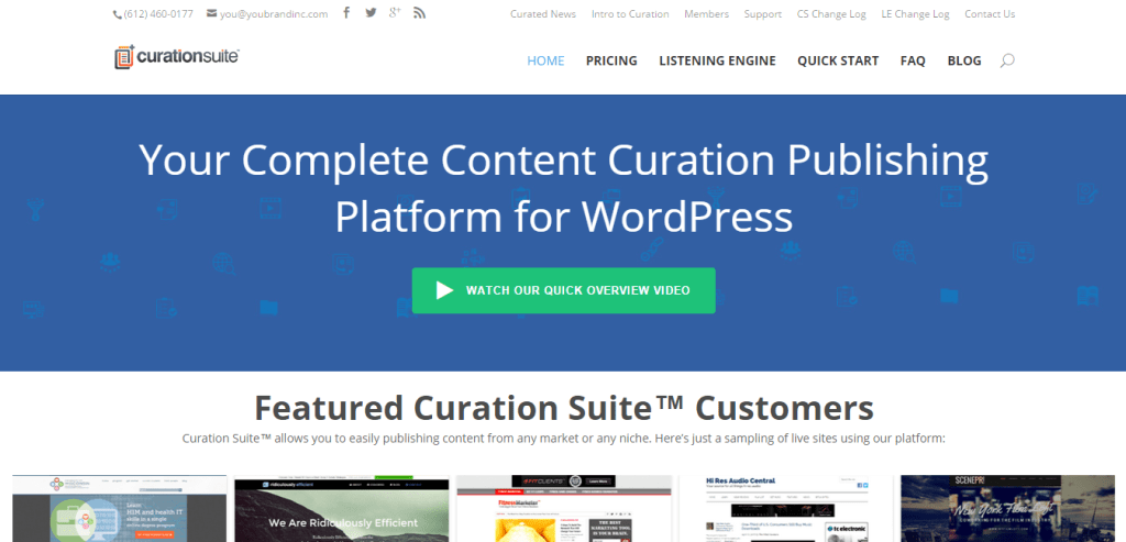 Curation Suite Plugin