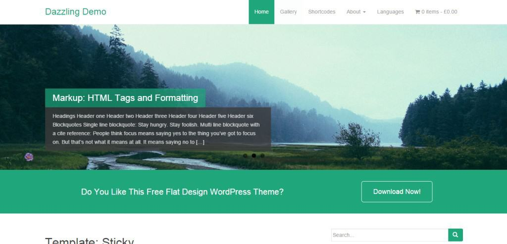 Dazzling WordPress Bootstrap Theme