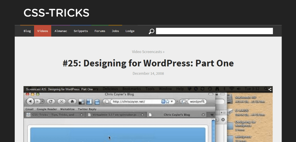 Designing for WordPress CSS Tricks
