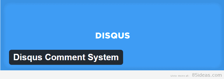 Disqus Comment System Plugin
