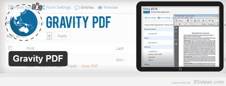 Gravity PDF WordPress Plugin