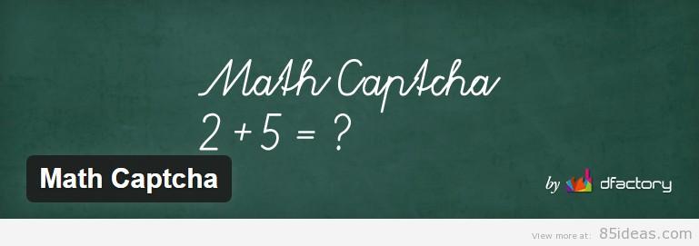 Math Captcha WordPress Plugin