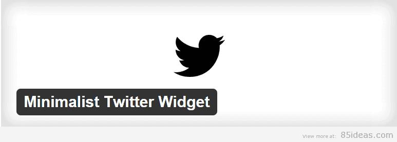 Minimalist Twitter Widget