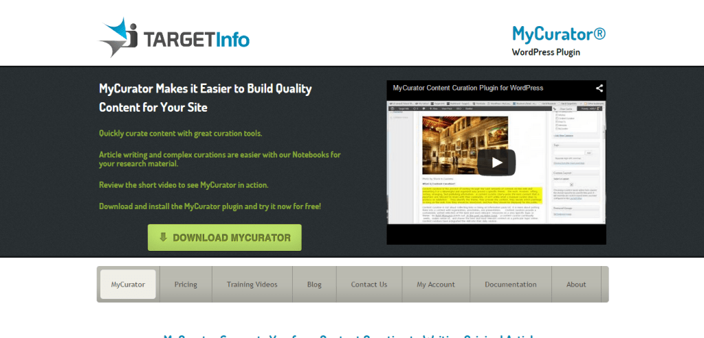 MyCurator WordPress Plugin
