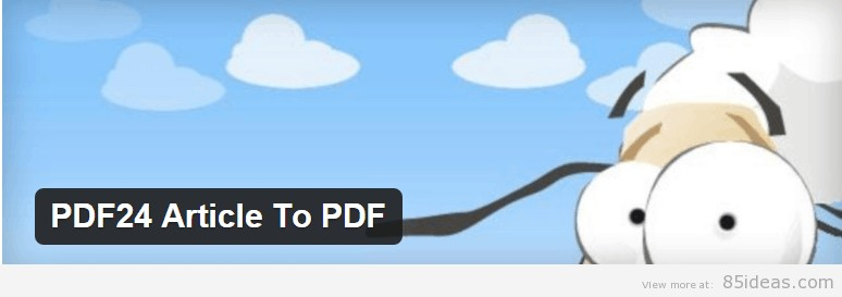 PDF24 Article To PDF Plugin