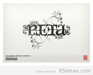 Peta_Ambigram_by_MartinIsaac