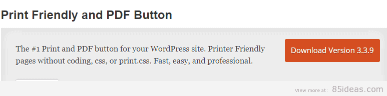 Print Friendly and PDF Button