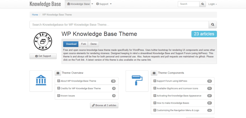 WP Knowledge Base Theme