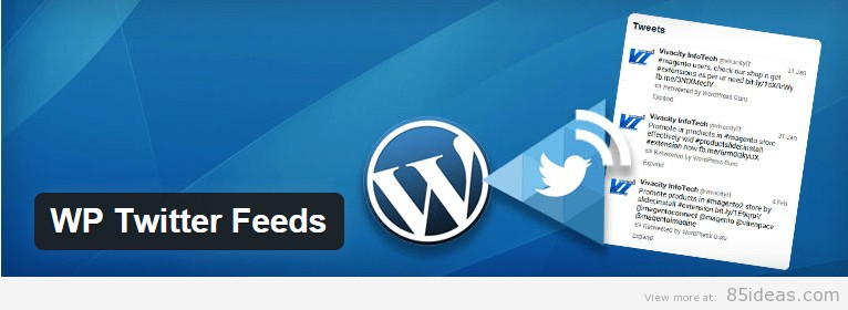 WP Twitter Feeds Plugin