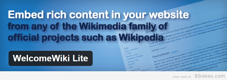 Welcome Wiki Lite