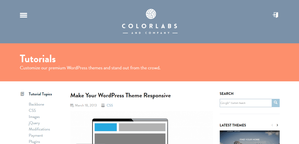 WordPress Theme Responsive Colorlabs Company