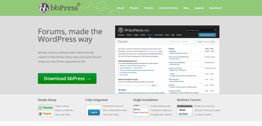 bbPress plugin